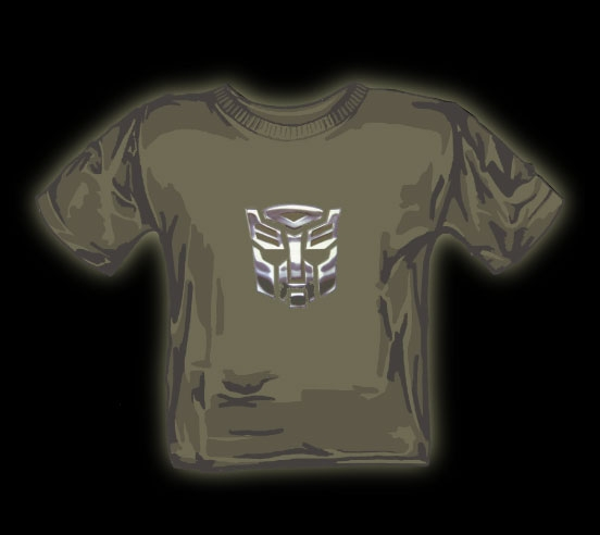 Chrome Autobot logo t shirt
