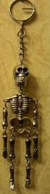 Metal skeleton keyring
